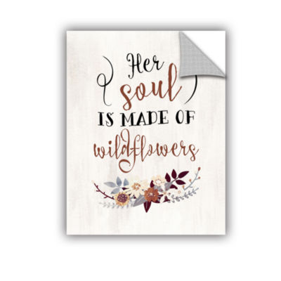 Brushstone Wildflowers Quote Removable Wall Decal