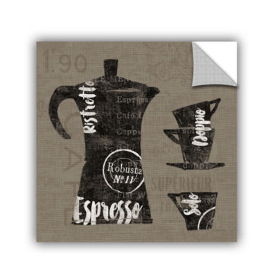Brushstone Linen Coffee I Removable Wall Decal