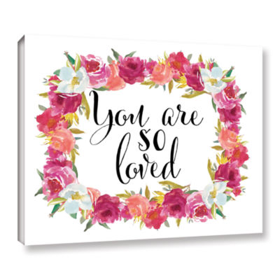 Brushstone You Are so Loved Wreath Gallery WrappedCanvas