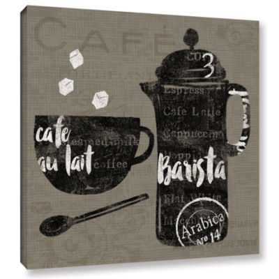 Brushstone Linen Coffee II Gallery Wrapped CanvasWall Art