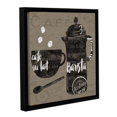 Brushstone Linen Coffee II Gallery Wrapped Floater-Framed Canvas Wall Art