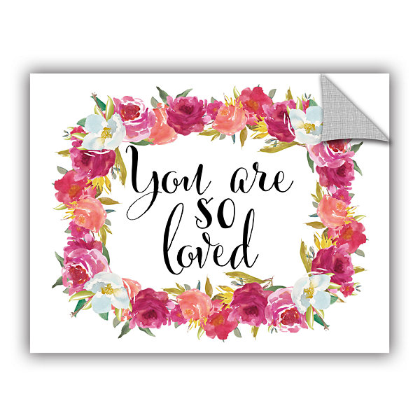 Brushstone You Are so Loved Wreath Removable WallDecal