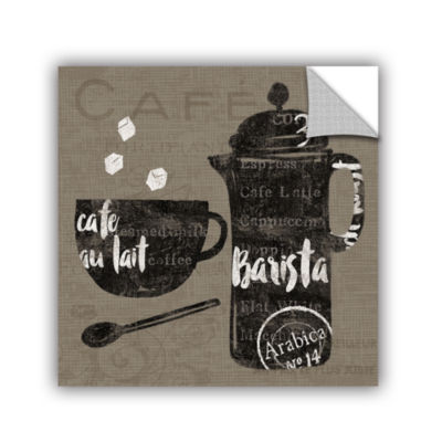 Brushstone Linen Coffee II Removable Wall Decal