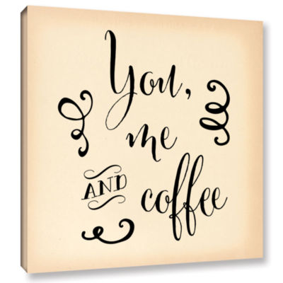Brushstone You Me and Coffee w bkgrd Gallery Wrapped Canvas