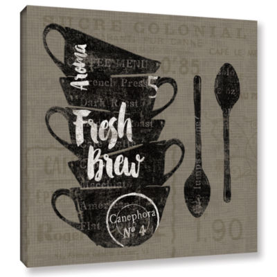 Brushstone Linen Coffee III Gallery Wrapped CanvasWall Art