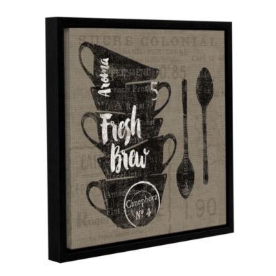 Brushstone Linen Coffee III Gallery Wrapped Floater-Framed Canvas Wall Art
