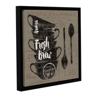 Brushstone Linen Coffee III Gallery Wrapped Floater-Framed Canvas Wall Art