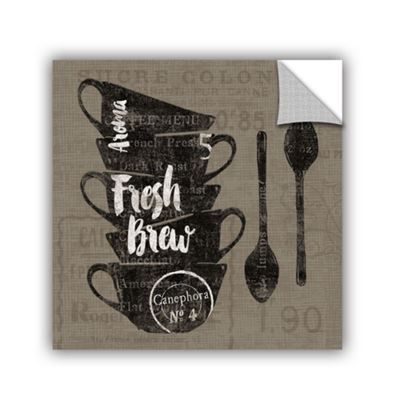 Brushstone Linen Coffee III Removable Wall Decal