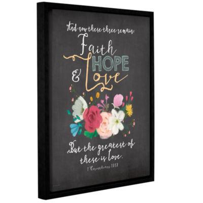 Brushstone Faith Hope & Love Gallery Wrapped Floater-Framed Canvas