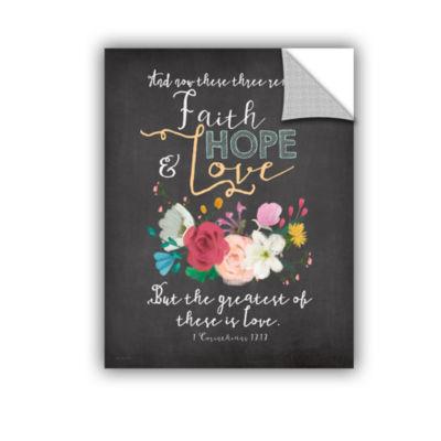 Brushstone Faith Hope & Love Removable Wall Decal