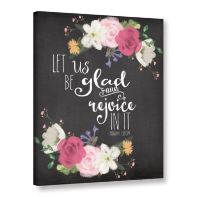 Brushstone Let Us Rejoice Gallery Wrapped Canvas