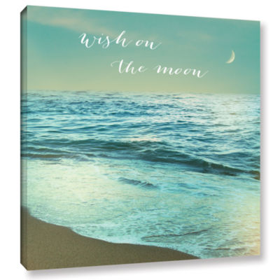 Brushstone Moonrise Beach Inspiration Gallery Wrapped Canvas Wall Art