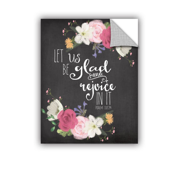 Brushstone Let Us Rejoice Removable Wall Decal