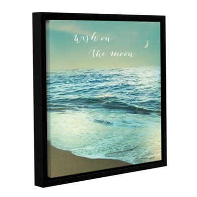 Brushstone Moonrise Beach Inspiration Gallery Wrapped Floater-Framed Canvas Wall Art