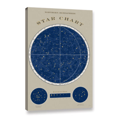 Brushstone NorThern Star Chart Gallery Wrapped Canvas Wall Art
