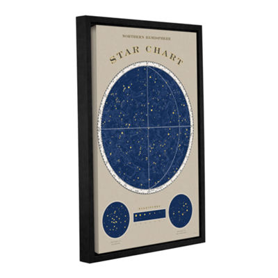 Brushstone NorThern Star Chart Gallery Wrapped Floater-Framed Canvas Wall Art
