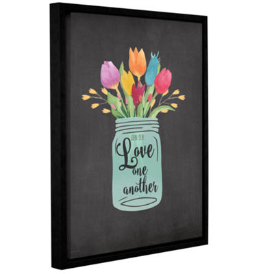 Brushstone Love Another Gallery Wrapped Floater-Framed Canvas