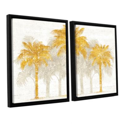 Brushstone Palm Coast I 2-pc. Floater Framed Canvas Wall Art
