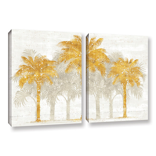 Brushstone Palm Coast I 2-pc. Gallery Wrapped Canvas Wall Art