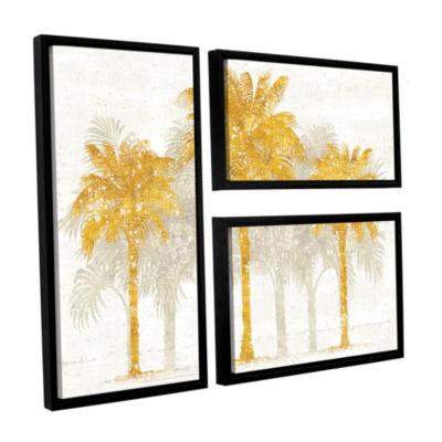 Brushstone Palm Coast I 3-pc. Flag Floater FramedCanvas Wall Art