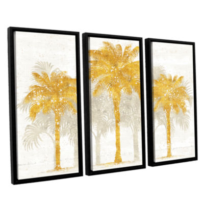 Brushstone Palm Coast I 3-pc. Floater Framed Canvas Wall Art
