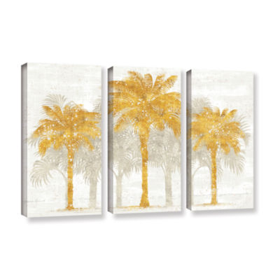 Brushstone Palm Coast I 3-pc. Gallery Wrapped Canvas Wall Art