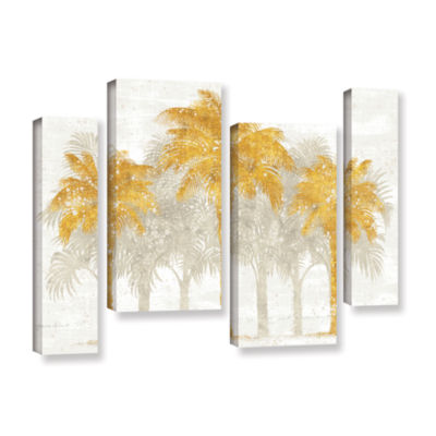 Brushstone Palm Coast I 4-pc. Gallery Wrapped Staggered Canvas Wall Art