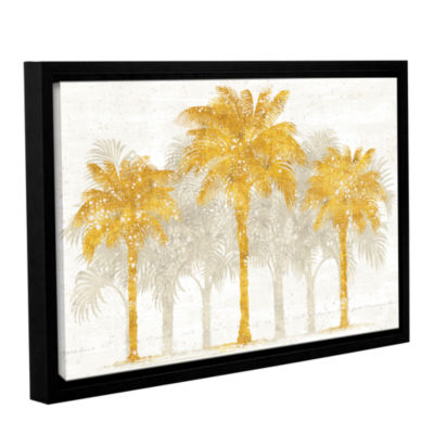 Brushstone Palm Coast I Gallery Wrapped Floater-Framed Canvas Wall Art