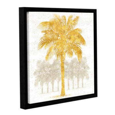 Brushstone Palm Coast II Gallery Wrapped Floater-Framed Canvas Wall Art