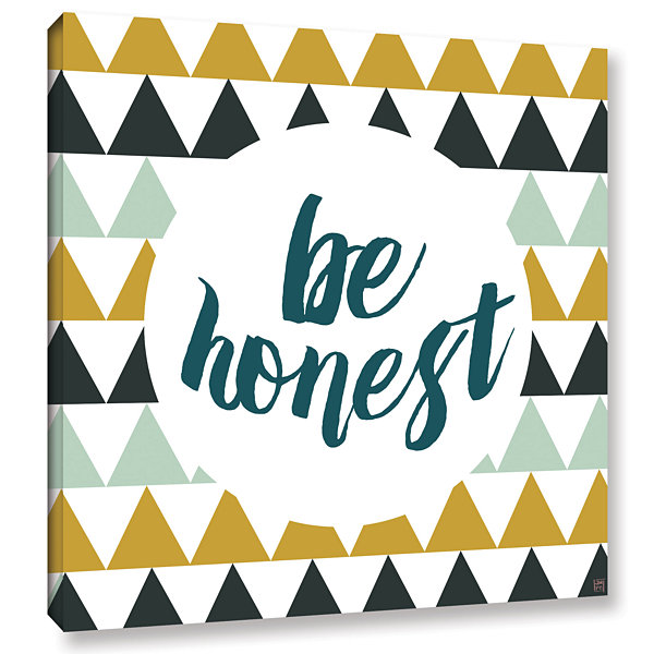Brushstone Be Honest Gallery Wrapped Canvas