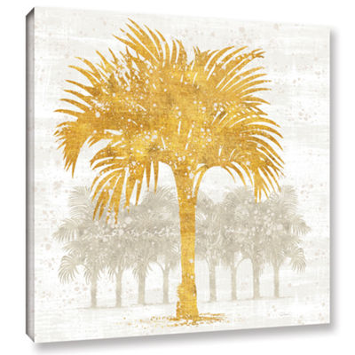 Brushstone Palm Coast IV Gallery Wrapped Canvas Wall Art