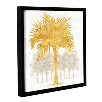 Brushstone Palm Coast IV Gallery Wrapped Floater-Framed Canvas Wall Art