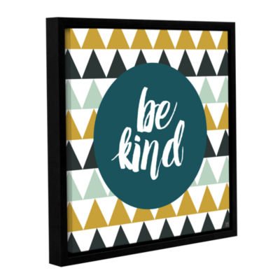 Brushstone Be Kind Gallery Wrapped Floater-FramedCanvas
