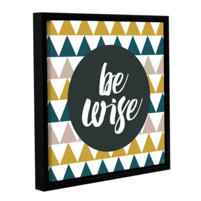 Brushstone Be Wise Gallery Wrapped Floater-FramedCanvas