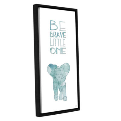 Brushstone Brave Little One Gallery Wrapped Floater-Framed Canvas