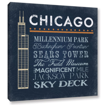 Brushstone Chicago- Sears Tower Gallery Wrapped Canvas