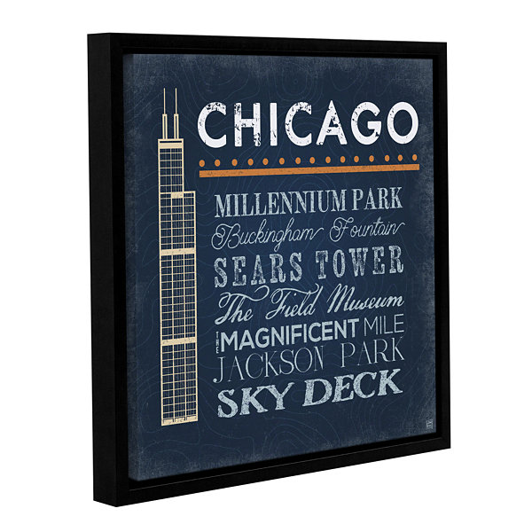 Brushstone Chicago- Sears Tower Gallery Wrapped Floater-Framed Canvas