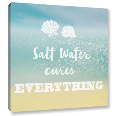 Brushstone Salt water Cure Gallery Wrapped CanvasWall Art