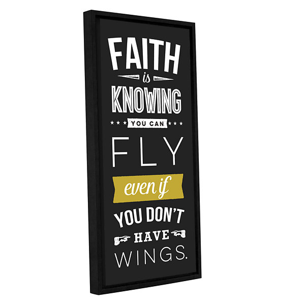 Brushstone Faith - Dark Gallery Wrapped Floater-Framed Canvas