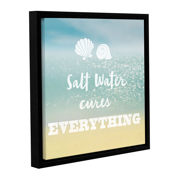 Brushstone Salt water Cure Gallery Wrapped Floater-Framed Canvas Wall Art