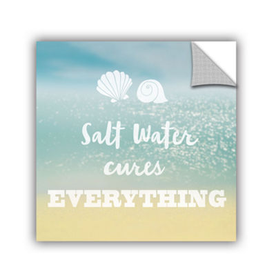 Brushstone Salt water Cure Removable Wall Decal