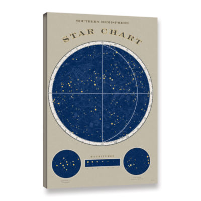 Brushstone SouThern Star Chart Gallery Wrapped Canvas Wall Art