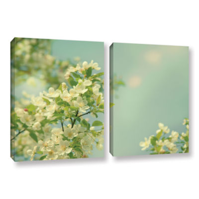 Brushstone Spring Beauty I 2-pc. Gallery Wrapped Canvas Wall Art