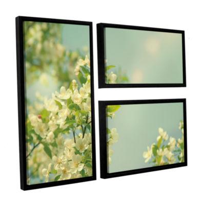 Brushstone Spring Beauty I 3-pc. Flag Floater Framed Canvas Wall Art