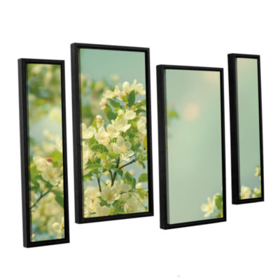 Brushstone Spring Beauty I 4-pc. Floater Framed Staggered Canvas Wall Art