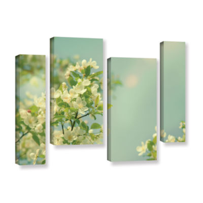 Brushstone Spring Beauty I 4-pc. Gallery Wrapped Staggered Canvas Wall Art