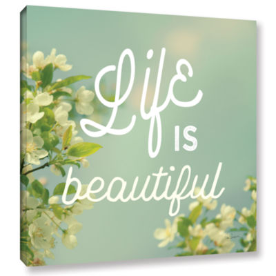 Brushstone Spring Beauty I Square Gallery WrappedCanvas Wall Art