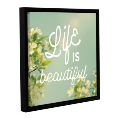 Brushstone Spring Beauty I Square Gallery WrappedFloater-Framed Canvas Wall Art