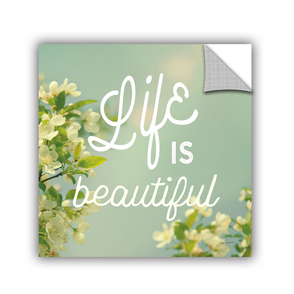 Brushstone Spring Beauty I Square Removable Wall Decal
