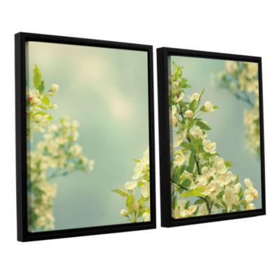 Brushstone Spring Beauty II 2-pc. Floater Framed Canvas Wall Art